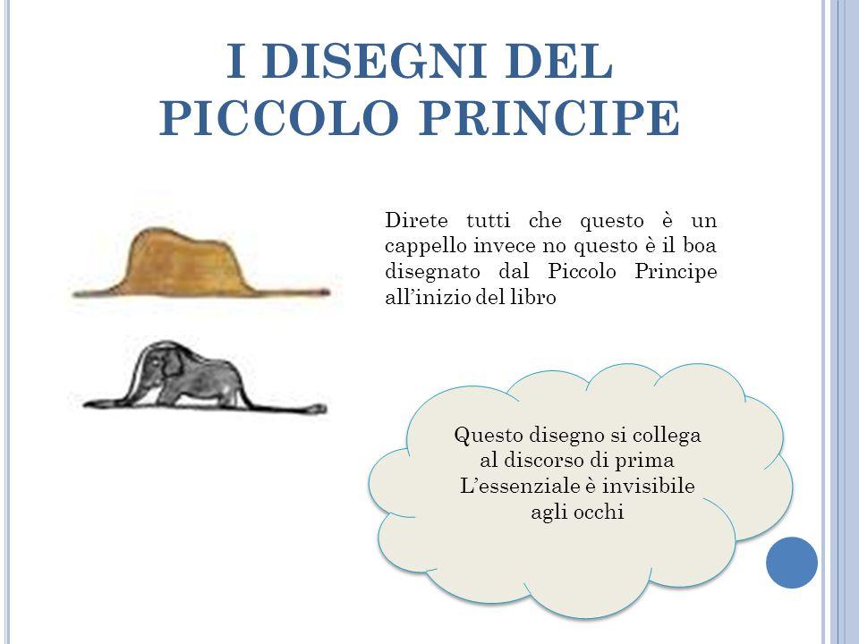 I DISEGNI DEL PICCOLO PRINCIPE Direte tutti che questo è un cappello invece no questo è il boa disegnato dal Piccolo Principe all'inizio del libro Que