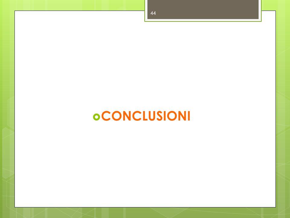 CONCLUSIONI 44