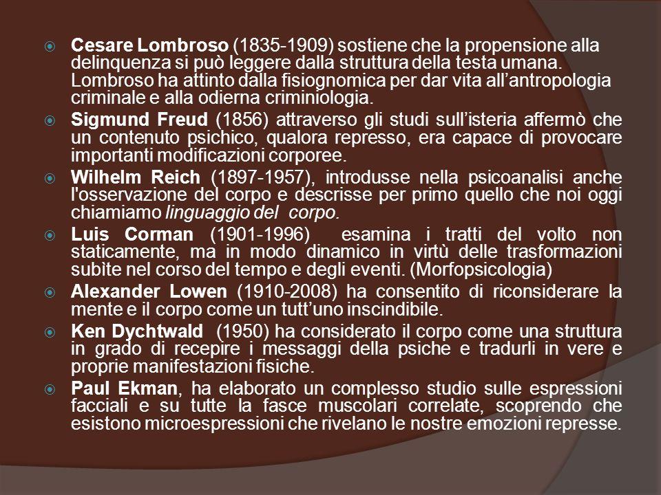  Cesare Lombroso (1835-1909) sostiene che la propensione alla delinquenza si può leggere dalla struttura della testa umana. Lombroso ha attinto dalla