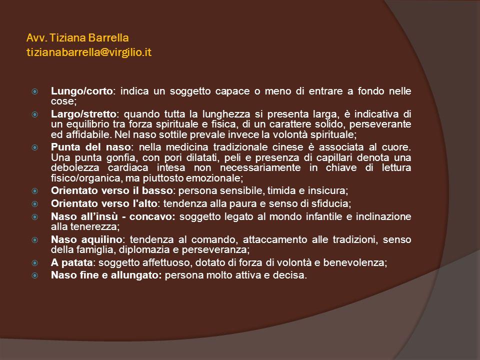 Avv. Tiziana Barrella tizianabarrella@virgilio.it  Lungo/corto: indica un soggetto capace o meno di entrare a fondo nelle cose;  Largo/stretto: quan