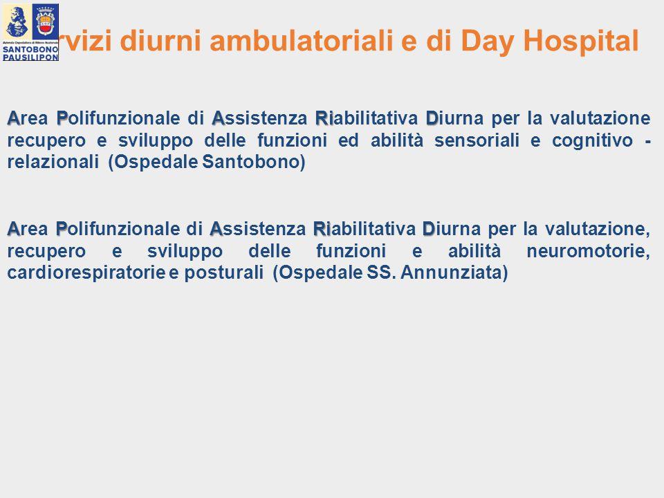 Servizi diurni ambulatoriali e di Day Hospital APARiD Area Polifunzionale di Assistenza Riabilitativa Diurna per la valutazione recupero e sviluppo de