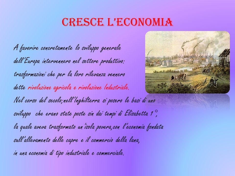CRESCE L'ECONOMIA A favorire concretamente lo sviluppo generale dell'Europa intervennero nel settore produttivo: trasformazioni che per la loro rileva