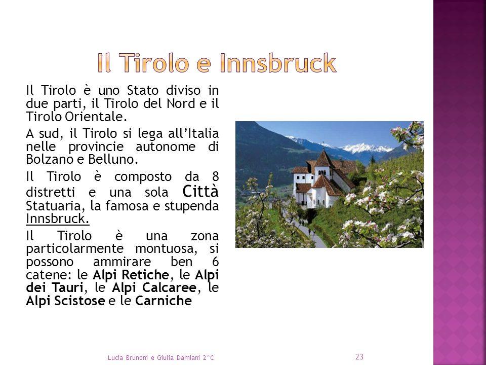 Il Tirolo è uno Stato diviso in due parti, il Tirolo del Nord e il Tirolo Orientale. A sud, il Tirolo si lega all'Italia nelle provincie autonome di B
