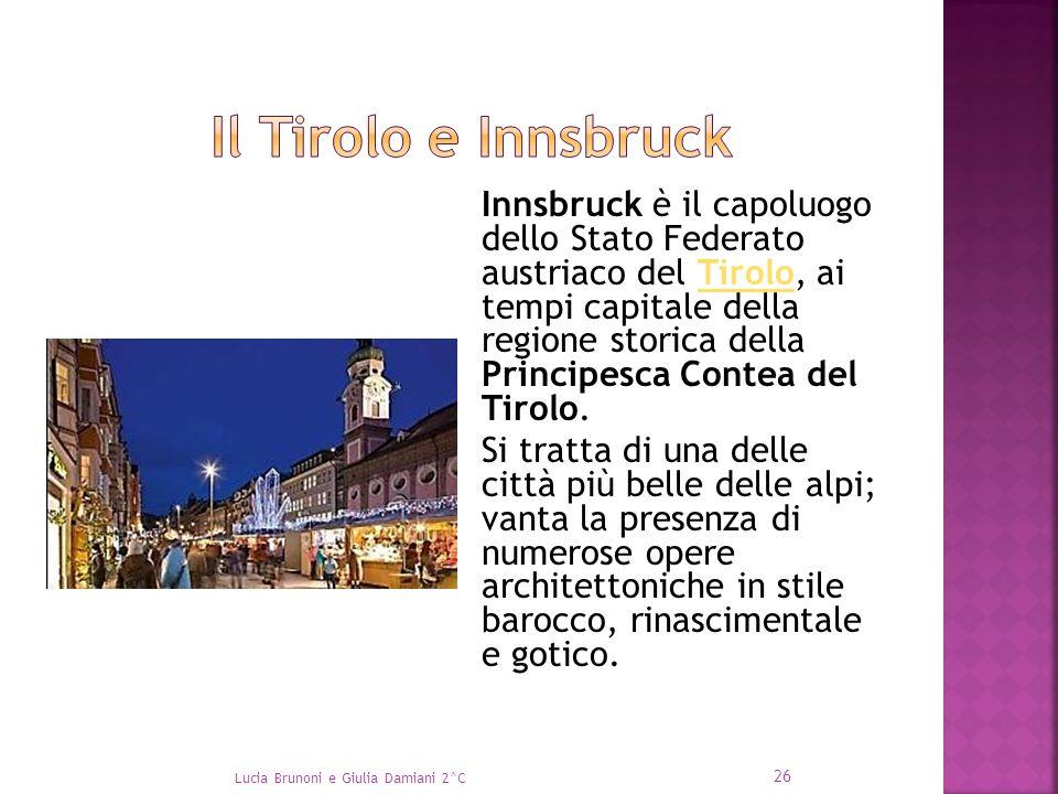 Innsbruck è il capoluogo dello Stato Federato austriaco del Tirolo, ai tempi capitale della regione storica della Principesca Contea del Tirolo.Tirolo