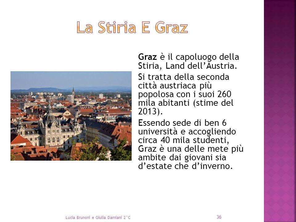 Graz è il capoluogo della Stiria, Land dell'Austria. Si tratta della seconda città austriaca più popolosa con i suoi 260 mila abitanti (stime del 2013