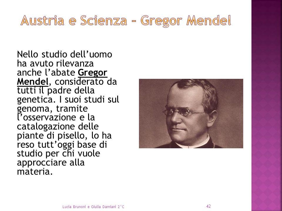 Nello studio dell'uomo ha avuto rilevanza anche l'abate Gregor Mendel, considerato da tutti il padre della genetica. I suoi studi sul genoma, tramite