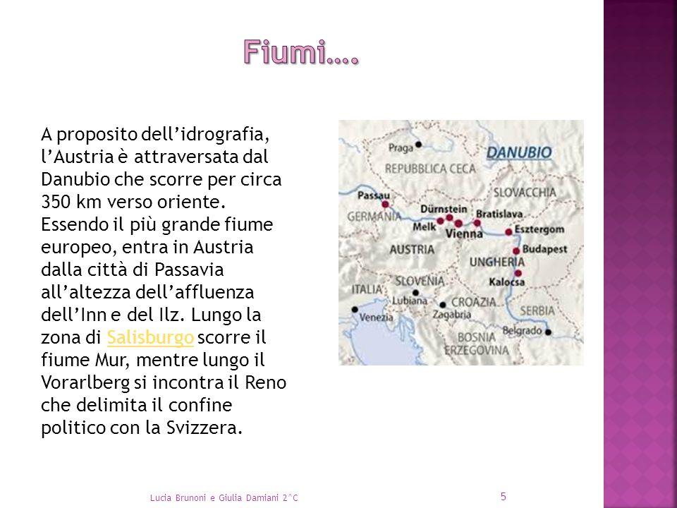 A proposito dell'idrografia, l'Austria è attraversata dal Danubio che scorre per circa 350 km verso oriente. Essendo il più grande fiume europeo, entr