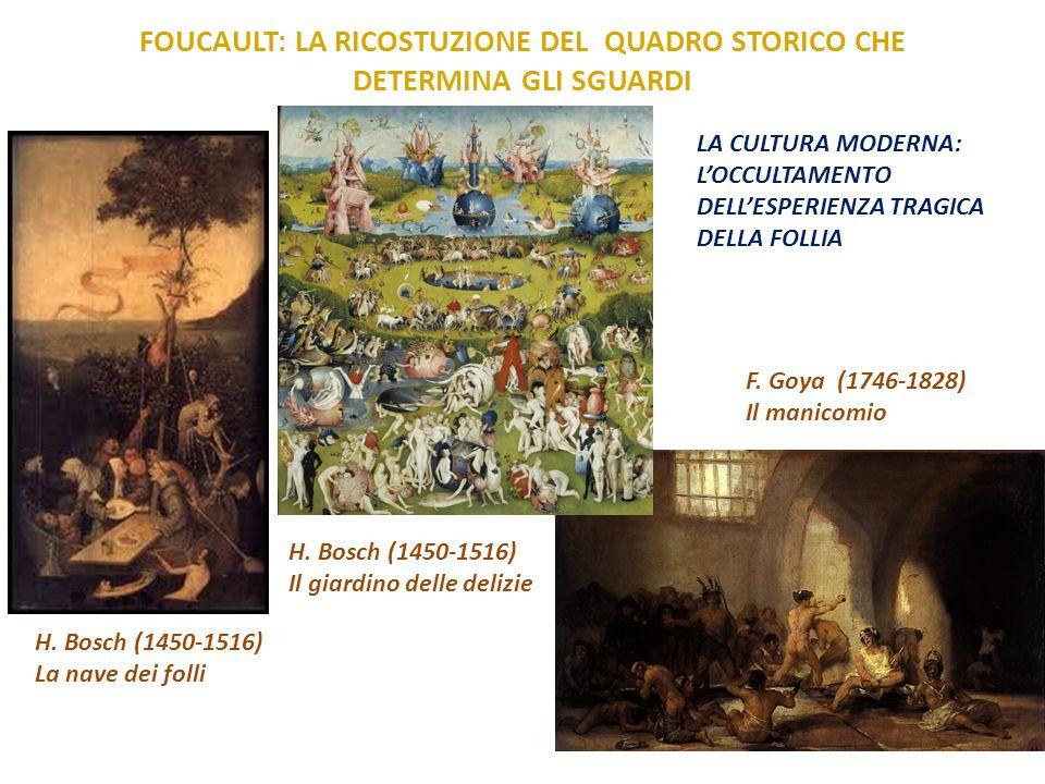 FOUCAULT: LA RICOSTUZIONE DEL QUADRO STORICO CHE DETERMINA GLI SGUARDI H. Bosch (1450-1516) Il giardino delle delizie H. Bosch (1450-1516) La nave dei