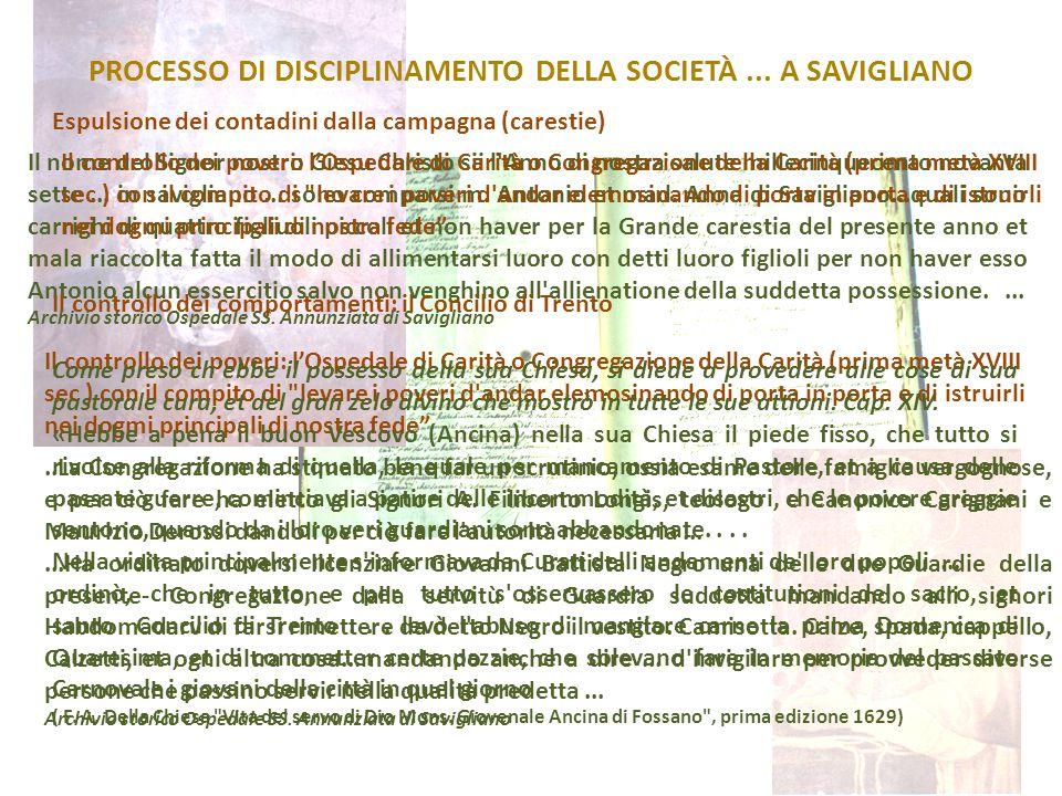 PROCESSO DI DISCIPLINAMENTO DELLA SOCIETÀ... A SAVIGLIANO Il nome del Signor nostro Giesu Christo sii l'Anno di nostra salute millecinquecento novanta