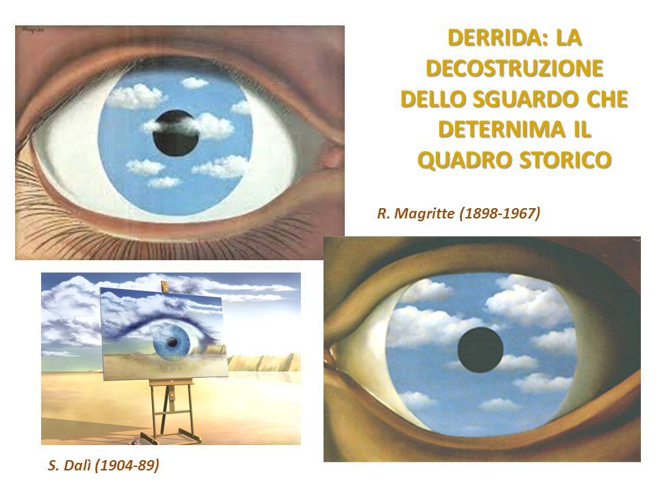 DERRIDA: LA DECOSTRUZIONE DELLO SGUARDO CHE DETERNIMA IL QUADRO STORICO R. Magritte (1898-1967) S. Dalì (1904-89)