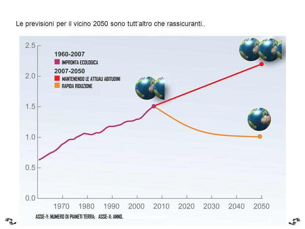 Le previsioni per il vicino 2050 sono tutt'altro che rassicuranti..