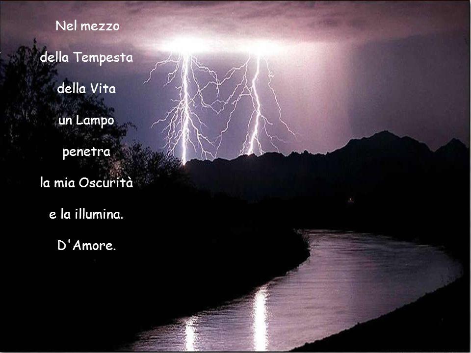 Nel mezzo della Tempesta della Vita un Lampo penetra la mia Oscurità e la illumina. D Amore.
