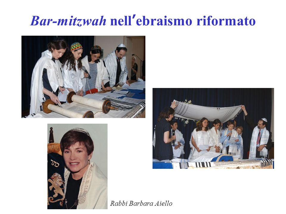 Bar-mitzwah nell'ebraismo riformato Rabbi Barbara Aiello