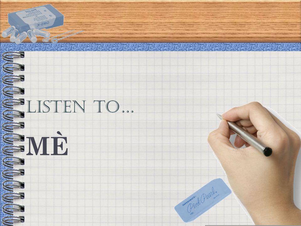 LISTEN TO… MÈMÈ