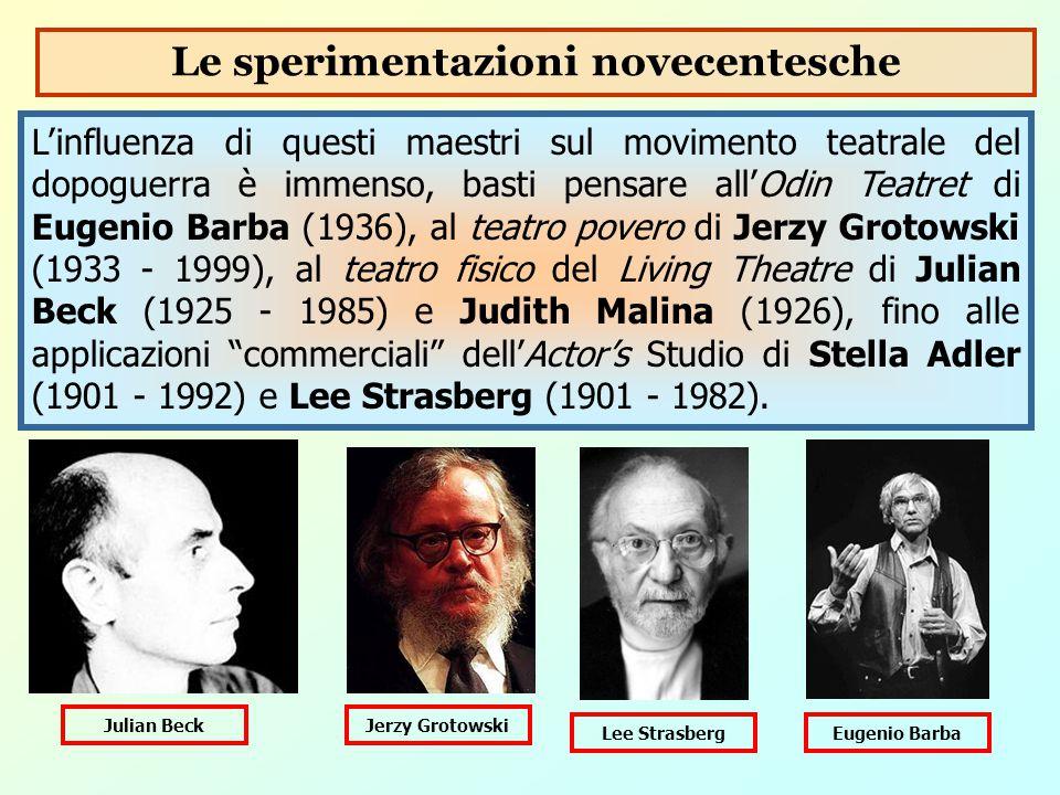 L'influenza di questi maestri sul movimento teatrale del dopoguerra è immenso, basti pensare all'Odin Teatret di Eugenio Barba (1936), al teatro pover