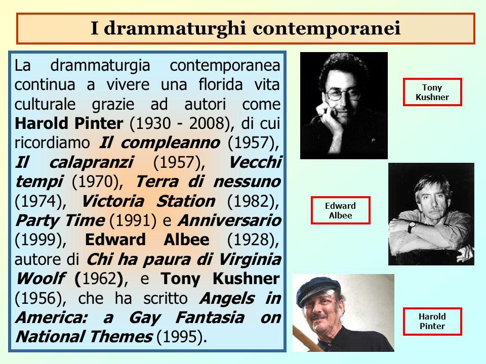 La drammaturgia contemporanea continua a vivere una florida vita culturale grazie ad autori come Harold Pinter (1930 - 2008), di cui ricordiamo Il com