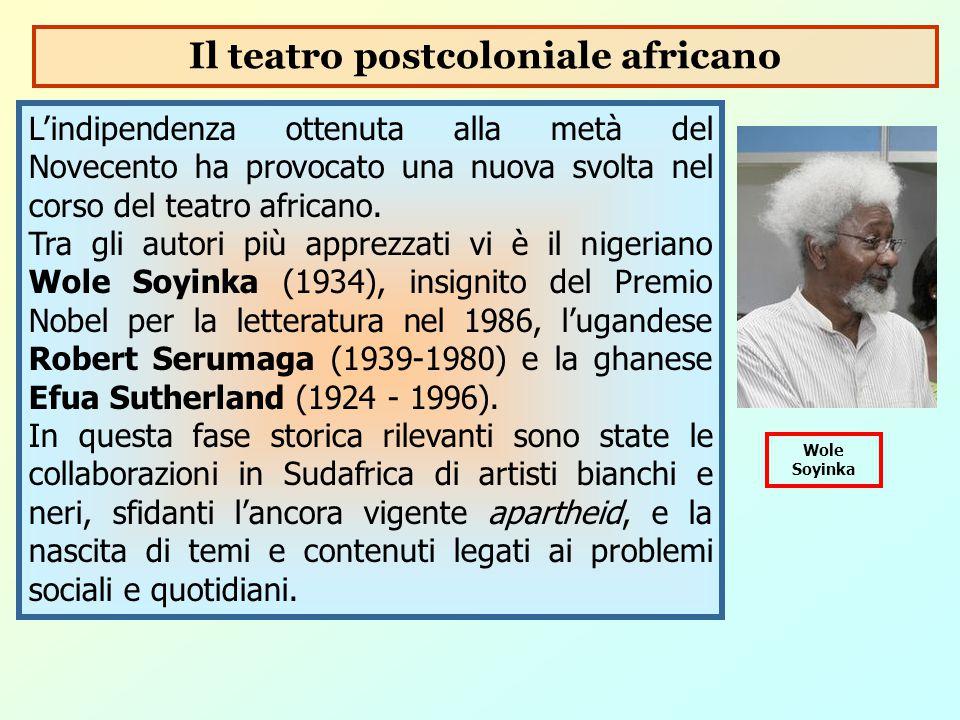 L'indipendenza ottenuta alla metà del Novecento ha provocato una nuova svolta nel corso del teatro africano. Tra gli autori più apprezzati vi è il nig