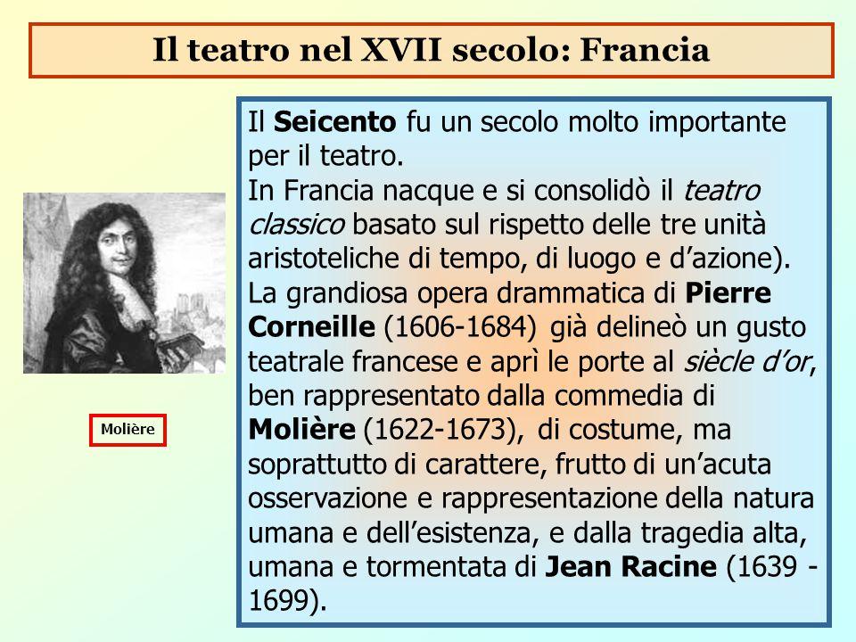 Il Seicento fu un secolo molto importante per il teatro. In Francia nacque e si consolidò il teatro classico basato sul rispetto delle tre unità arist