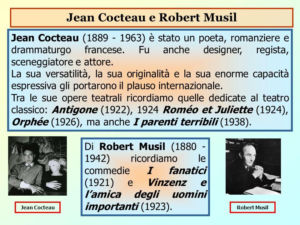 Jean Cocteau (1889 - 1963) è stato un poeta, romanziere e drammaturgo francese. Fu anche designer, regista, sceneggiatore e attore. La sua versatilità