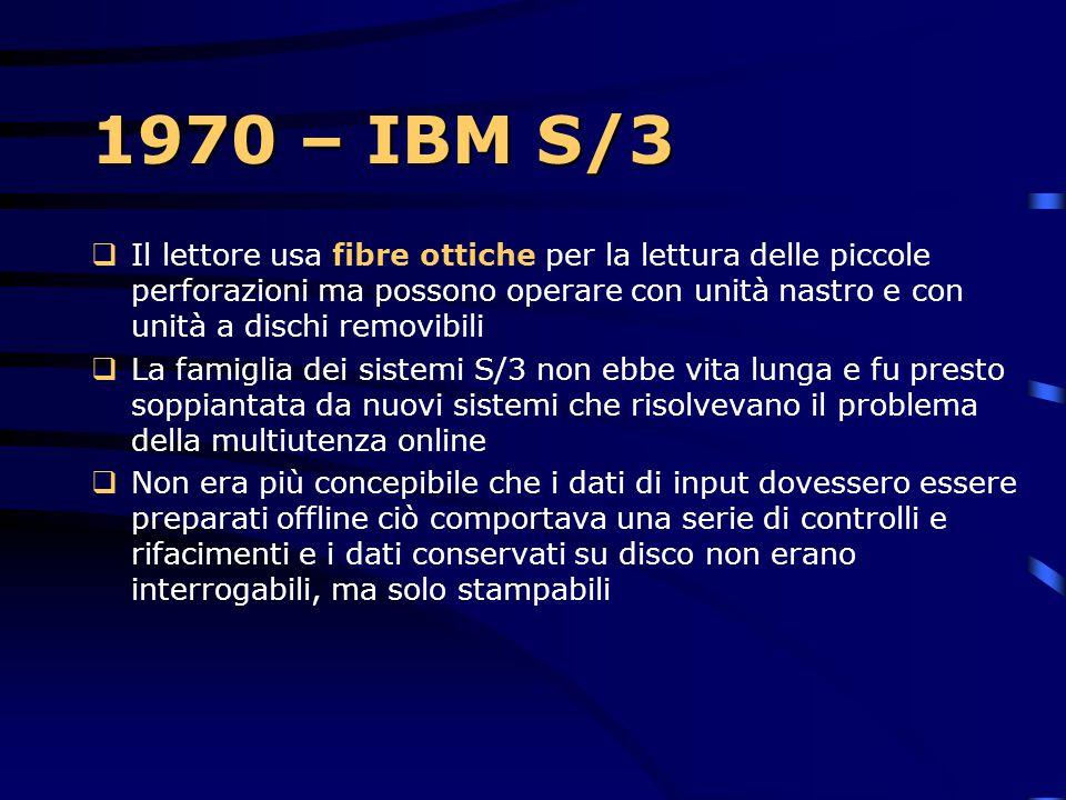 1970  L'azienda annuncia l'entrata nel photocopy business  L'introduzione del System/7, basato su un sensore per la gestione di applicazioni da labo