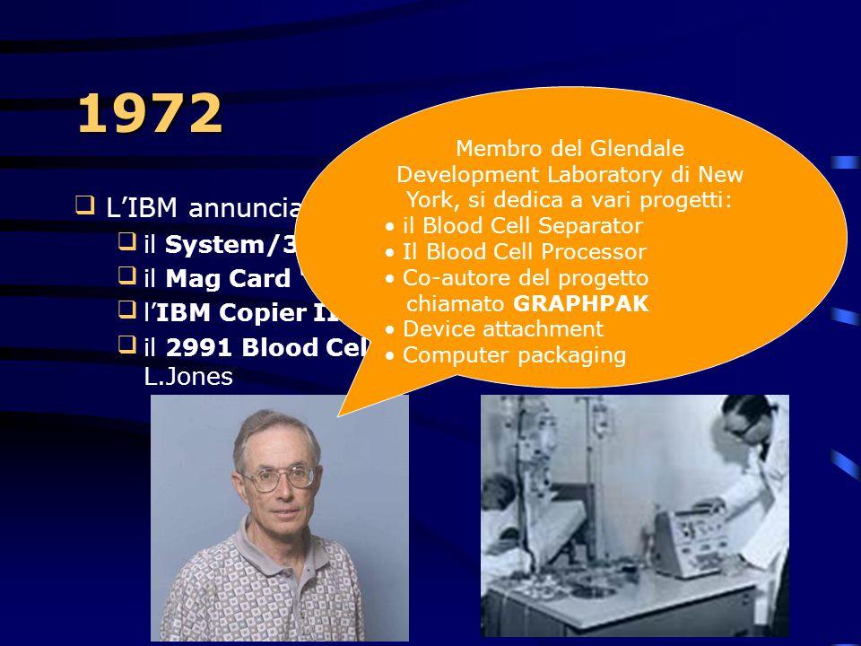 1971 – Nuove periferiche il 3410 magnetic tape subsystem il 3670 brokerage communications system il 2730, un terminale utilizzato per validare le t