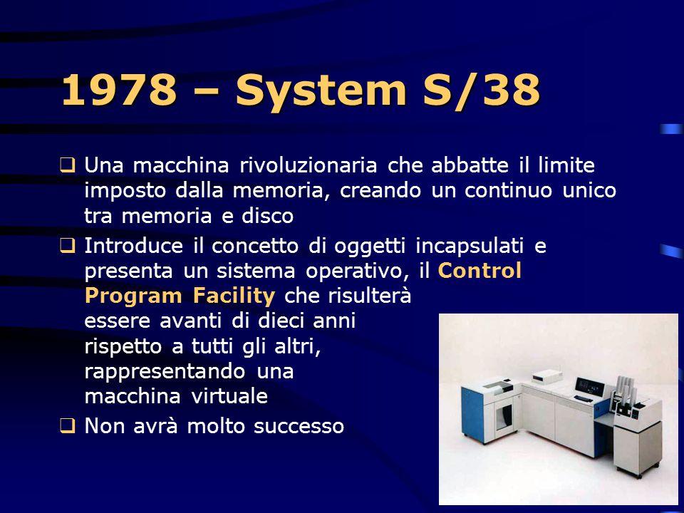 1978 – System/23  È la dimostrazione degli sforzi dell'IBM di ristringere il formato e il costo di computazione  Fonde l'elaborazione di testi e l'e