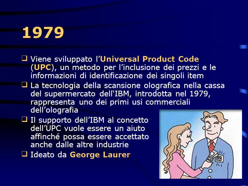 1979 Per superare le barriere culturali e fisiche l'IBM introduce il 3270 Kanji Display Terminal Il System/34 con le caratteristiche ideografiche el