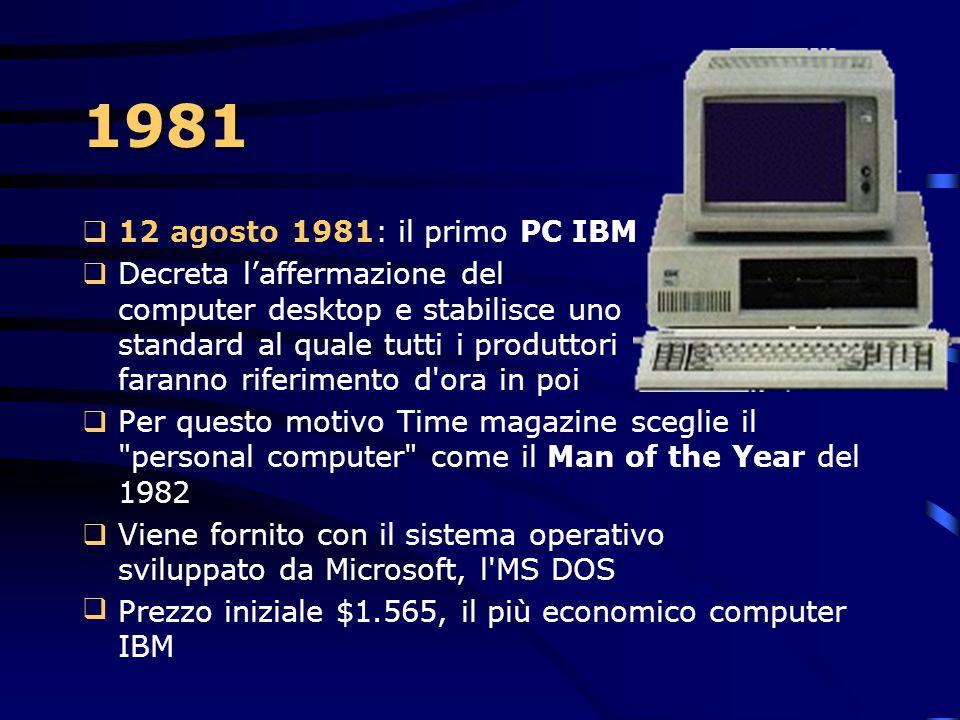 1980  John Cocke lavora al progetto IBM 801 per lo sviluppo di un minicomputer con la non ancora battezzata architettura RISC  Acronimo di Reduced I