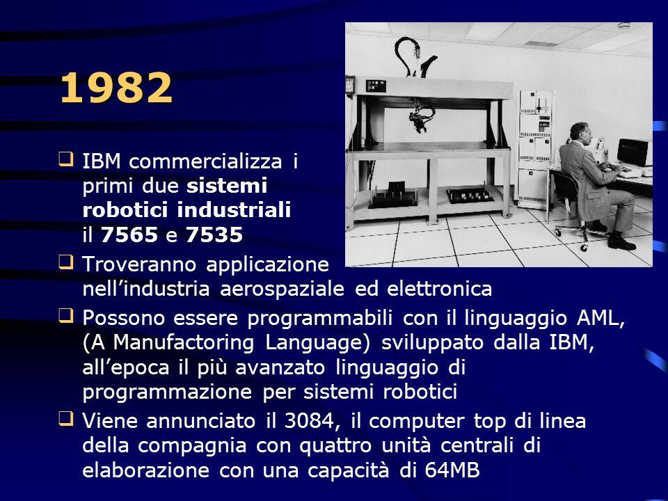 1981  12 agosto 1981: il primo PC IBM  Decreta l'affermazione del computer desktop e stabilisce uno standard al quale tutti i produttori faranno rif