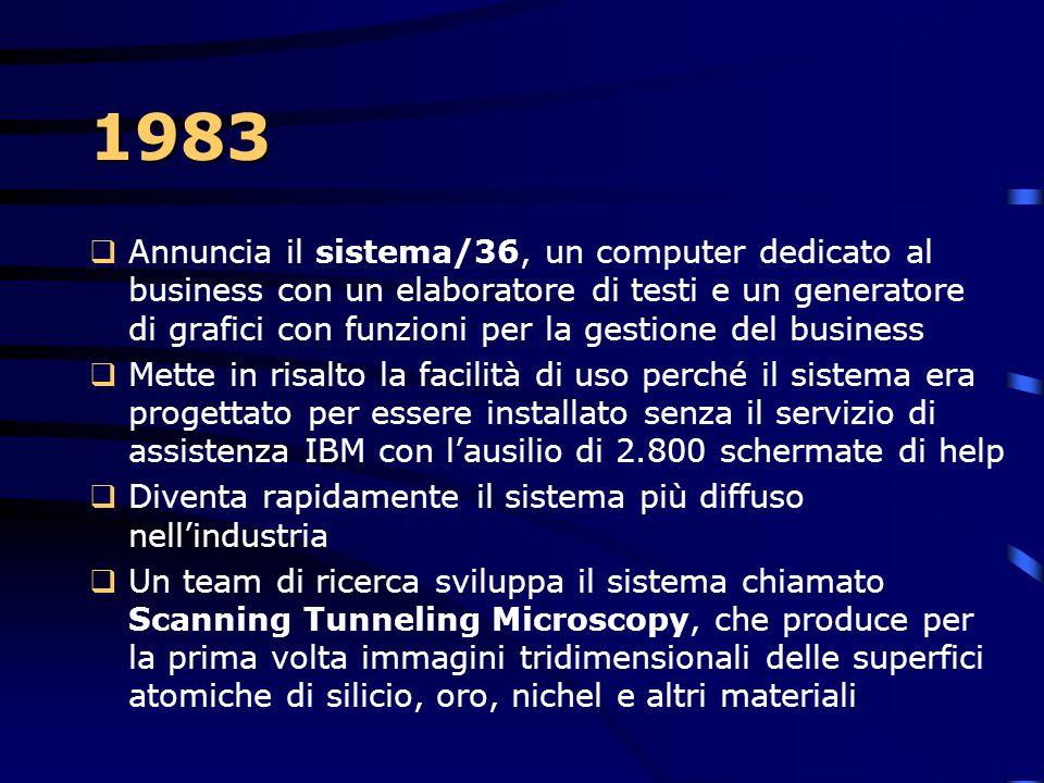 1982 IBM commercializza i primi due sistemi robotici industriali il 7565 e 7535 Troveranno applicazione nell'industria aerospaziale ed elettronica 