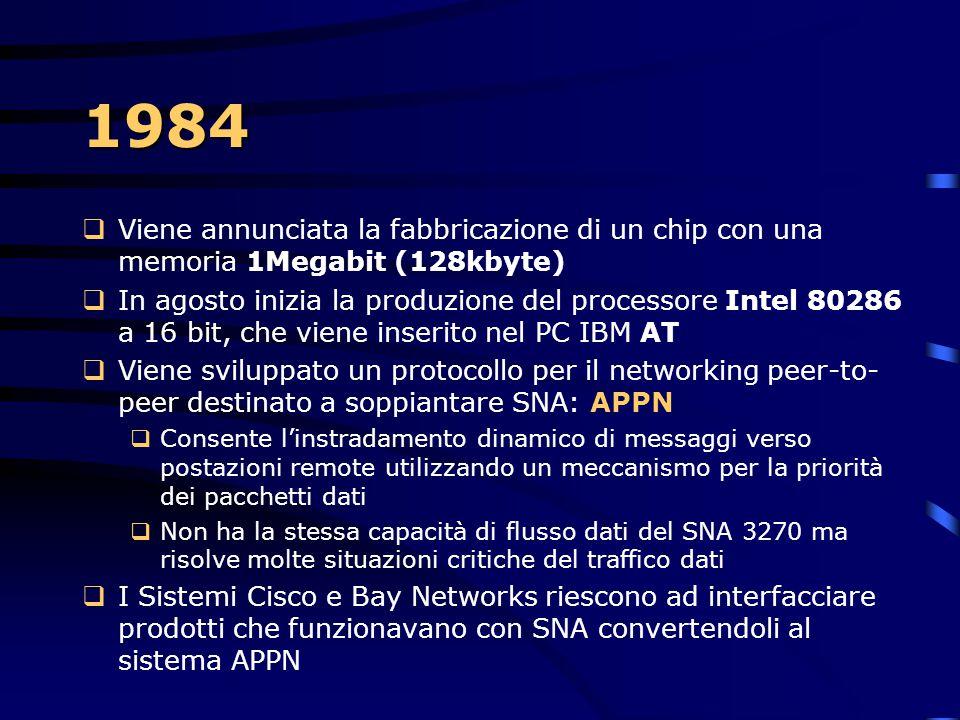 1983  Viene annunciato il successore del primo PC IBM, il PC XT (Extended Tecnology), con più memoria, lettore di floppy a doppio lato, con un sistem