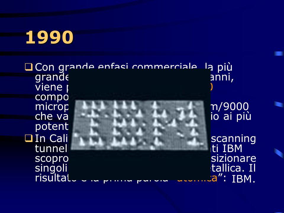 la storia dal 1990 ad oggi