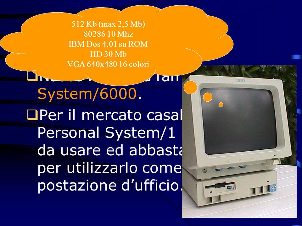 1990  Con grande enfasi commerciale, la più grande campagna degli ultimi 25 anni, viene presentata la famiglia S/390 composta da 18 modelli basati su