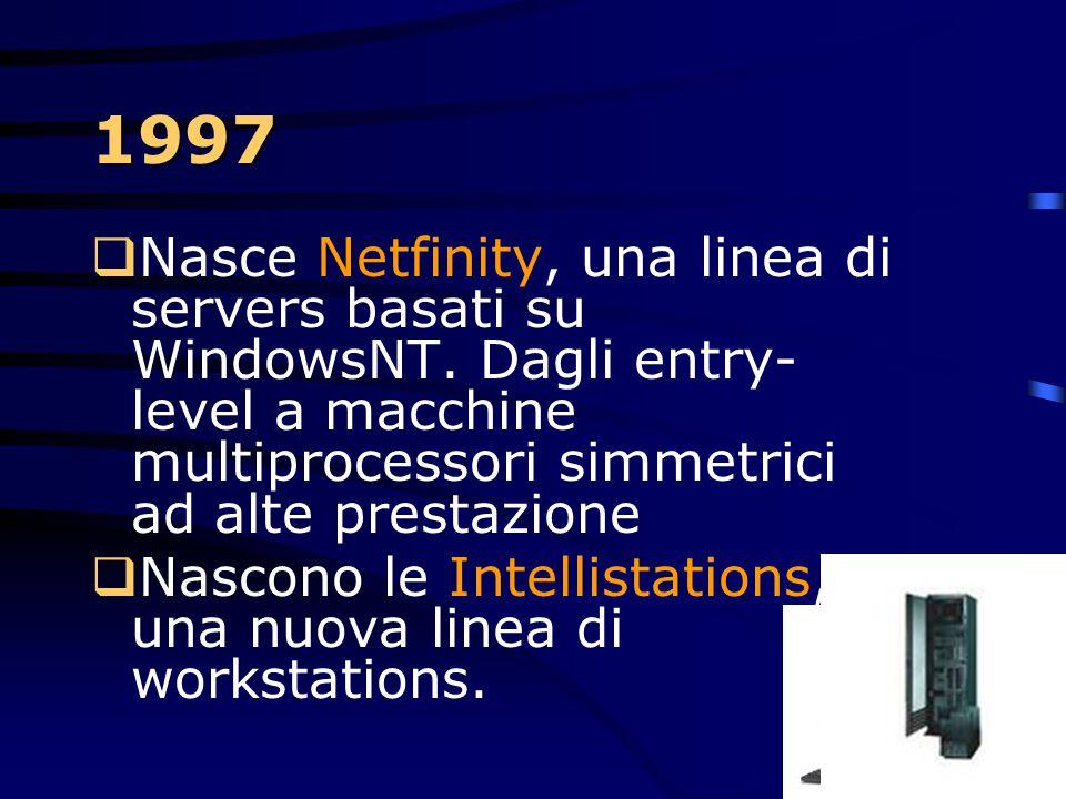 1997  Grande scontro uomo-macchina in una partita a scacchi!  Deep Blu: supercomputer parallelo RS/6000 a 30 nodi. 480 processori progettati per gli