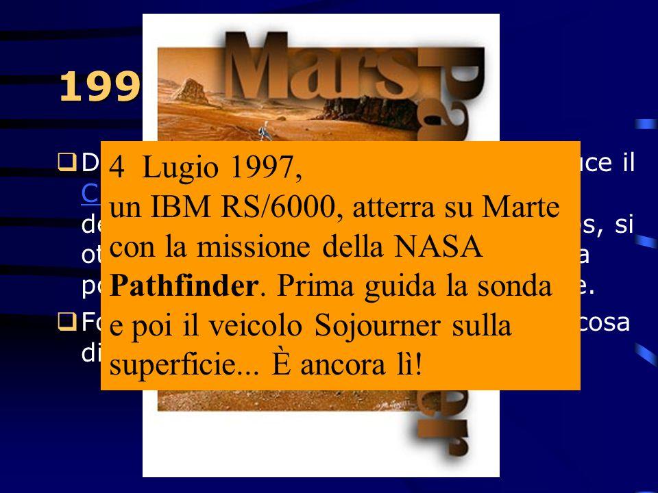"""1997  Nasce il primo hard-disk da 2.5"""" da ben 5Gb, il Travelstar 5GS...e tra poco ci sarà quello da 8Gb.  Grazie all'uso di testine GMR (giant magne"""