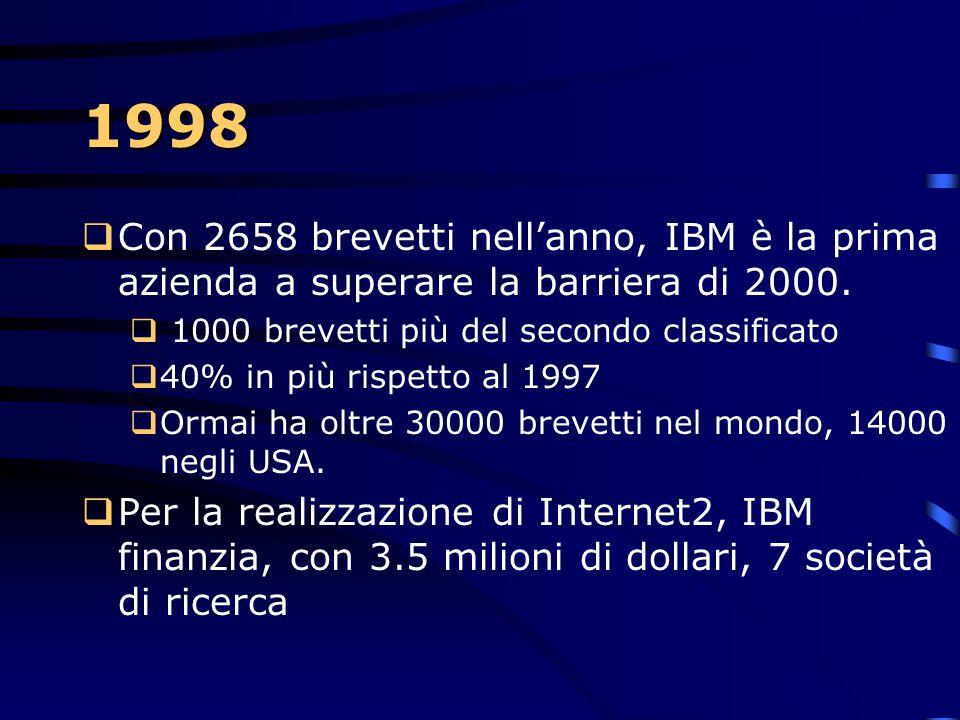 1998  Per le previsioni del tempo americane, il National Weather Service, si procura un IBM RS/6000 … 10 volte più potente di Deep Blue Deep Blue  N