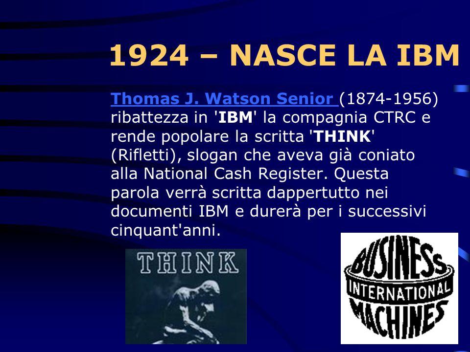 1920 – CTRC Nel 1920 nasce il primo registratore di cassa in grado di stampare numeri.Prima di esso, era necessario copiare a mano sui fogli di riscon