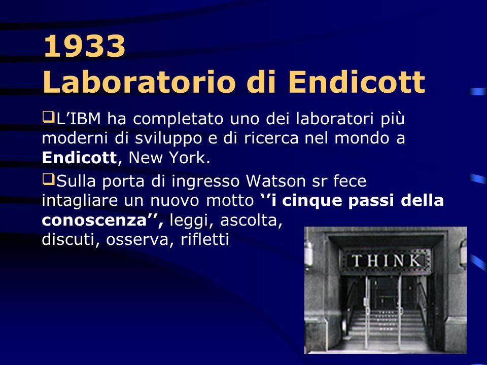 1933 Le macchine da scrivere E' introdotto Il tabulatore di stampa numerico del tipo 285 dell'IBM – con una capacità di tabulazione di 150 schede al