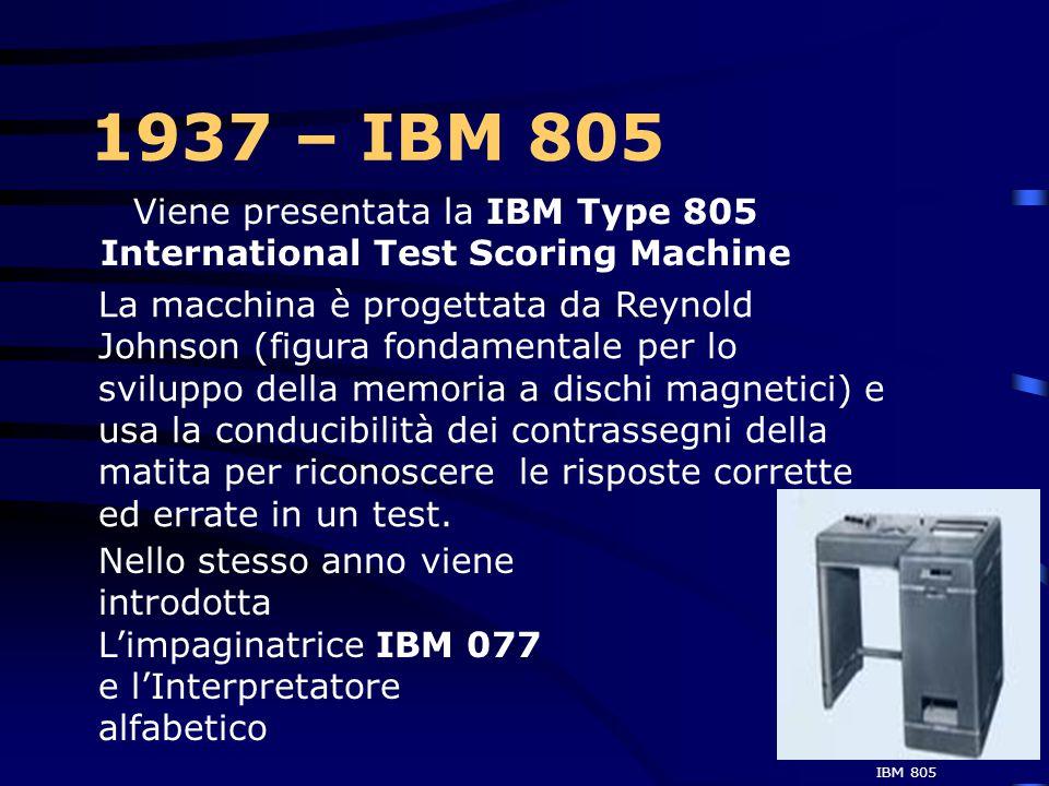 1937 – 10000 dipendenti  Il fatturato annuo della IBM raggiunge i 31 milioni di dollari con un utile netto di 8 milioni di dollari e un dividendo del