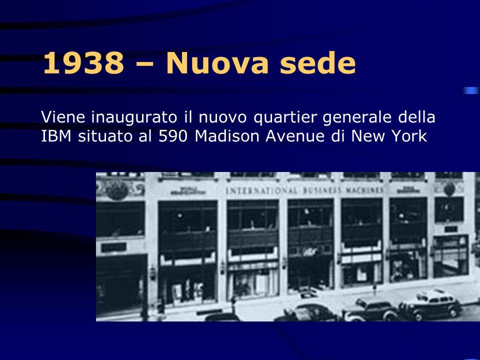 1937 – IBM 805 Viene presentata la IBM Type 805 International Test Scoring Machine La macchina è progettata da Reynold Johnson (figura fondamentale pe