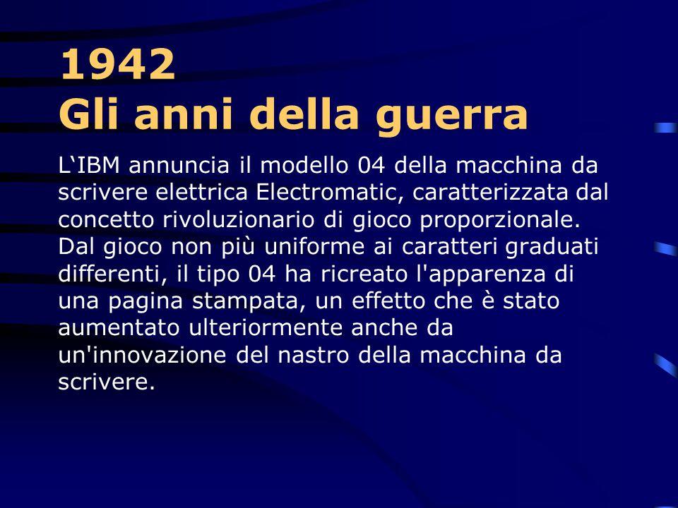 1940-Gli anni della guerra Con lo scoppio della seconda guerra mondiale, le risorse della IBM sono state messe a disposizione del governo degli Stati