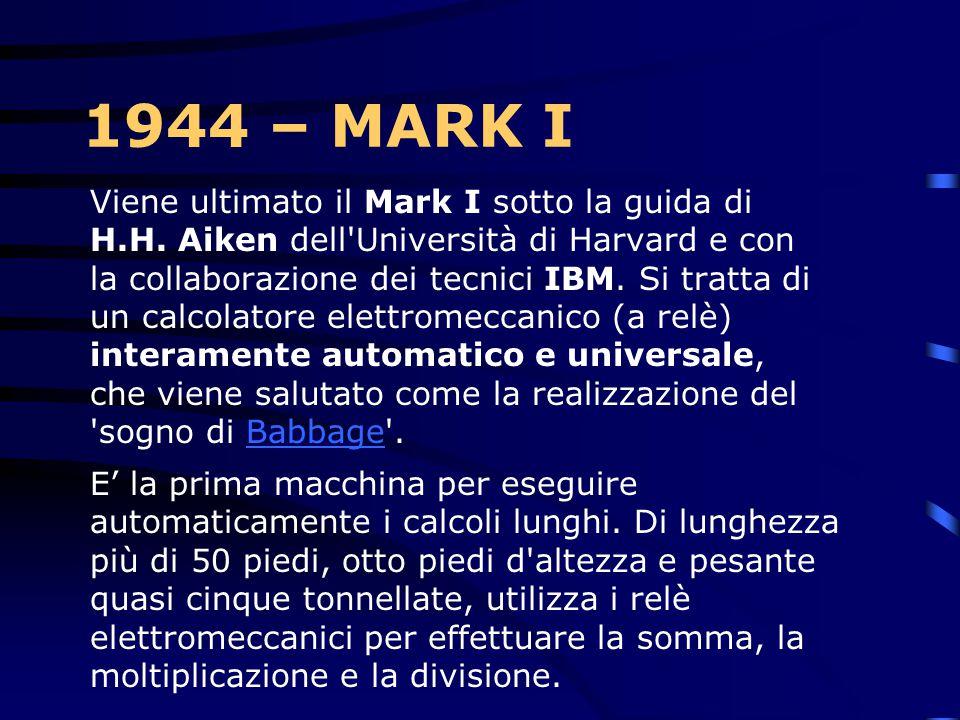 1942 Gli anni della guerra L'IBM annuncia il modello 04 della macchina da scrivere elettrica Electromatic, caratterizzata dal concetto rivoluzionario