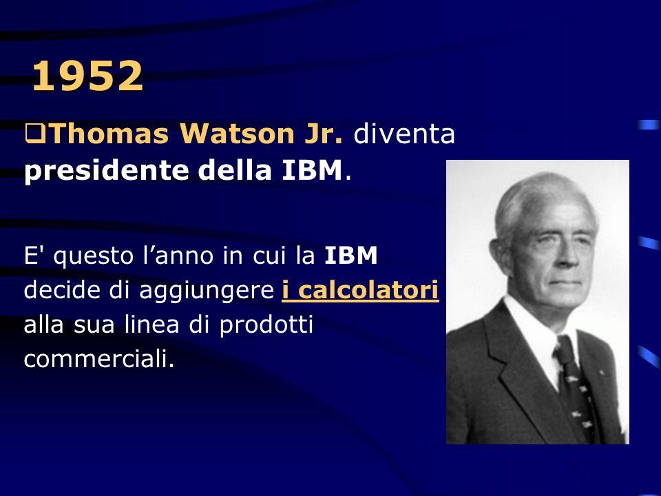 1950  La IBM risolve i problemi legati all'usura dei nastri magnetici mediante l'utilizzo delle colonne sotto vuoto.  Infatti le prime unità di nast