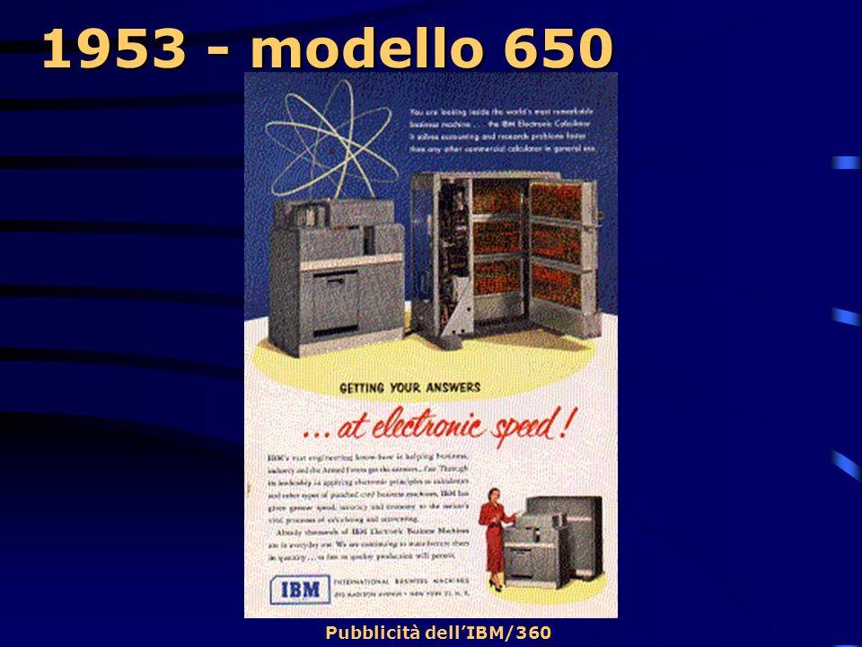 1953 - modello 650  Tale calcolatore possiede una