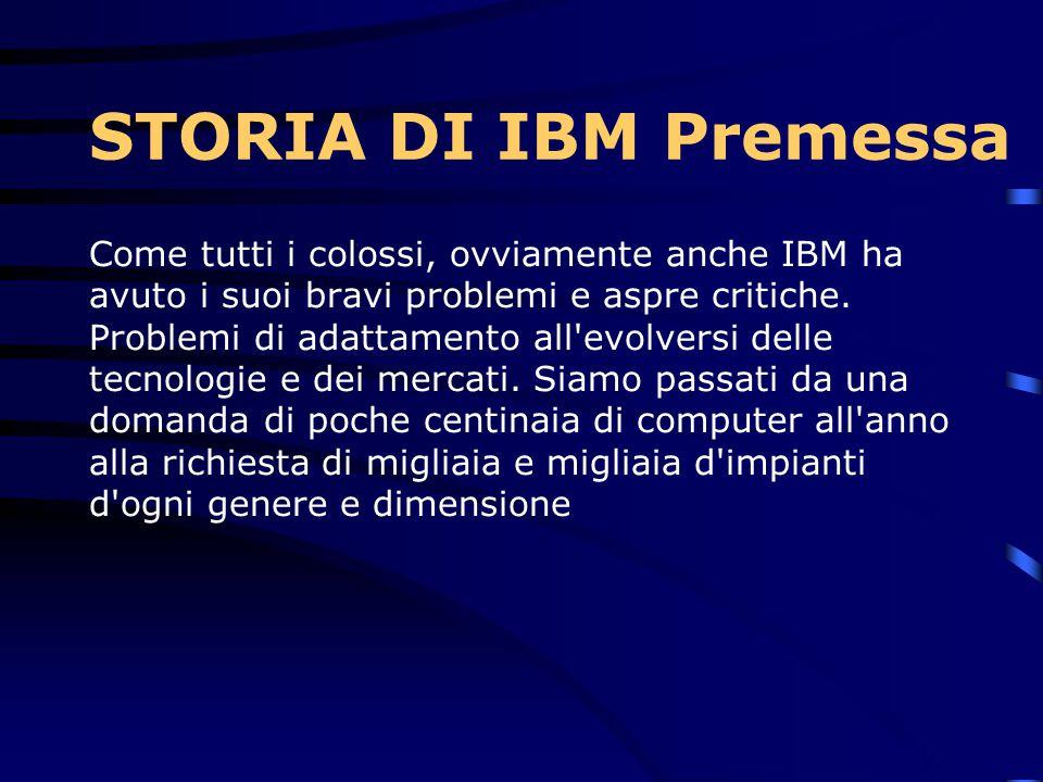 Gli standard produttivi IBM sono sempre risultati di elevata qualità e questa caratteristica di professionalità e competenza costruttiva si può verifi