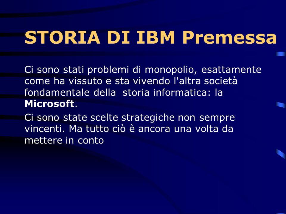 Ci sono stati problemi di monopolio, esattamente come ha vissuto e sta vivendo l altra società fondamentale della storia informatica: la Microsoft.