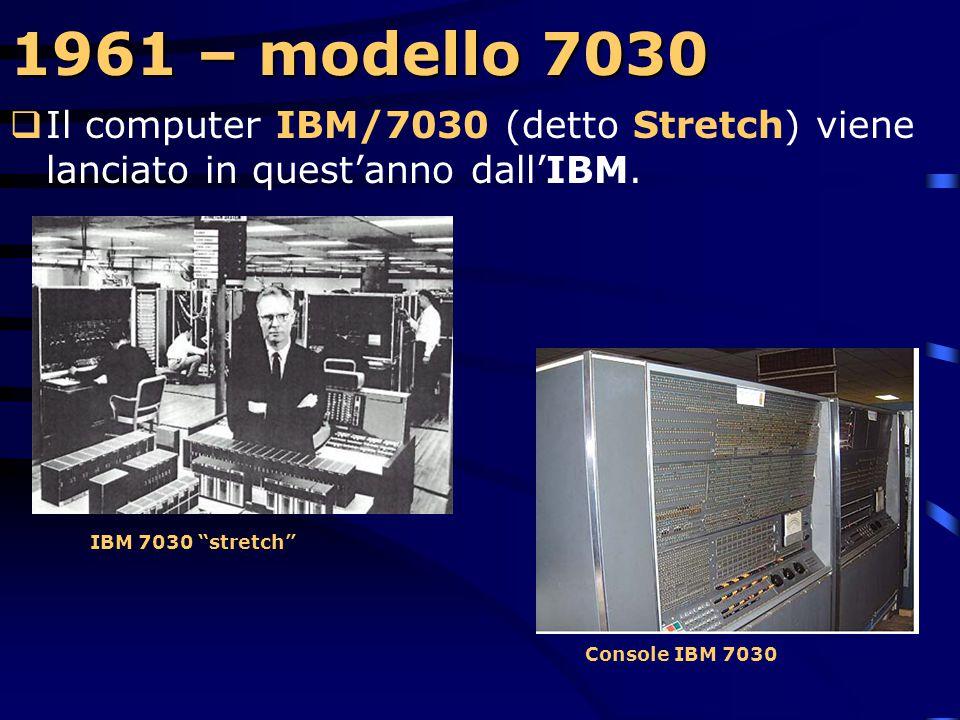 1960 – PL/1  La IBM annuncia il linguaggio PL/1, che è una combinazione di ALGOL, FORTRAN e COBOL. Il nuovo linguaggio sarà utilizzato per grosse app