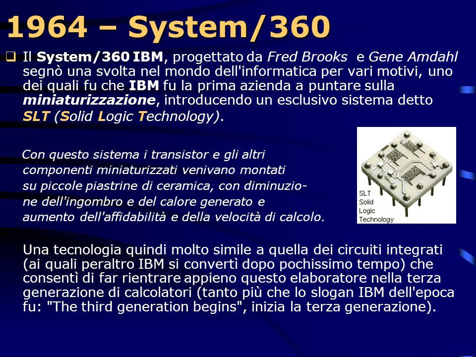 1964 – System/360  L'IBM annuncia il System/360 IBM system/360