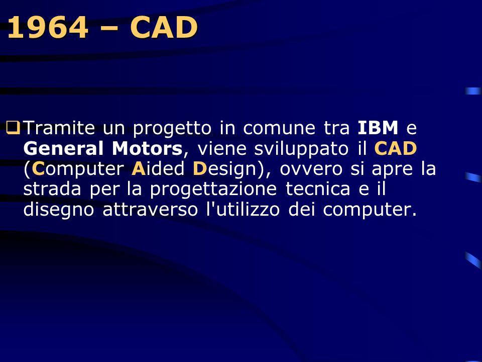 1964 – System/360  Il successo del 360, malgrado l'investimento iniziale di 5 bilioni di dollari, esplose clamorosamente e i profitti IBM salirono al