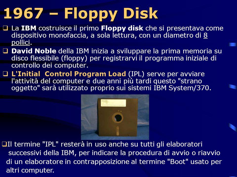 1965  Il primo cavo a fibra ottica viene impiegato in un lettore di schede IBM.